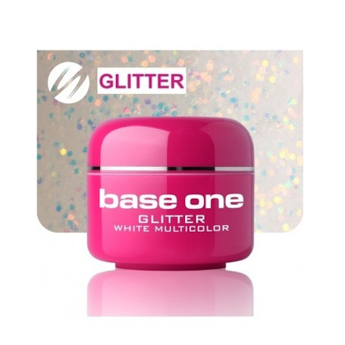 Base One GLITTER 20 WHITE MULTICOLOR